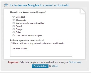 LinkedIn's Default Message - DO NOT SEND