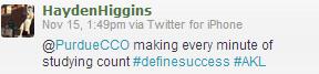 #definesuccess Tweet2