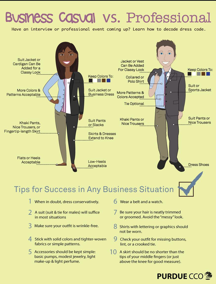 0dd88d3c541f Dress to Impress  Business Casual vs. Professional – Purdue CCO Blog