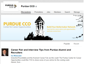 Career Fair and Interview Tips from Purdue Alumni and Recruiters