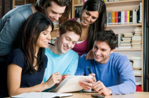 students-group-writing-studying