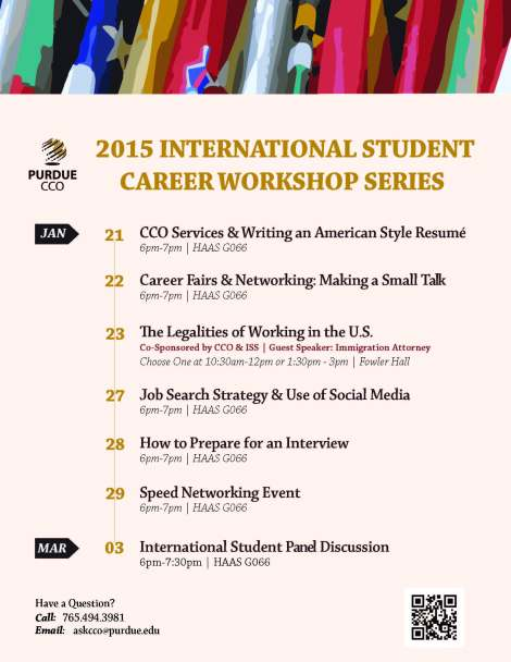 Spring 2015 International Workshop Series final
