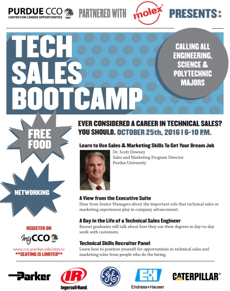 Tech Sales Bootcamp Flyer