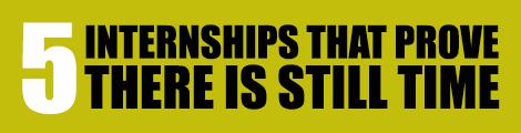 5 reasons internship header
