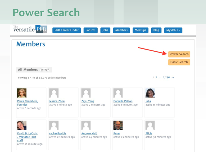 VPhD Member Search